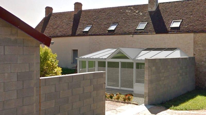 Exemple d'une représentation de l'aspect extérieur pour un projet de véranda